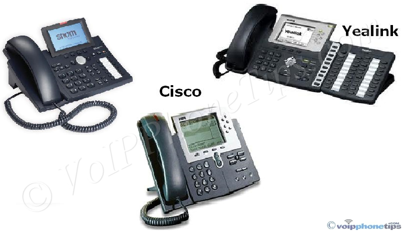 Snom, Cisco, Yealink Broadband VoIP Phones