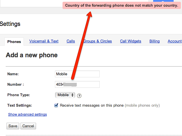 GV Verify Your Phone Number New 2