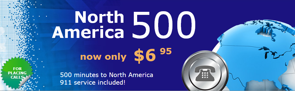 CallCentric North America 500 mins Plan