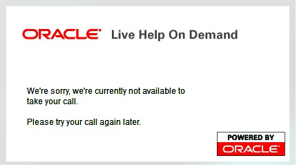 oracle offline click to call message