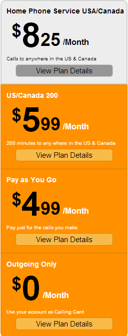 AXvoice Home Phone Service Plans