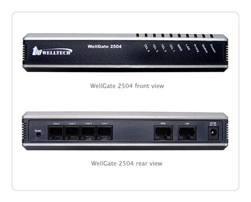 Welltech 2504 WellGate 2504 FXS Port Gateway